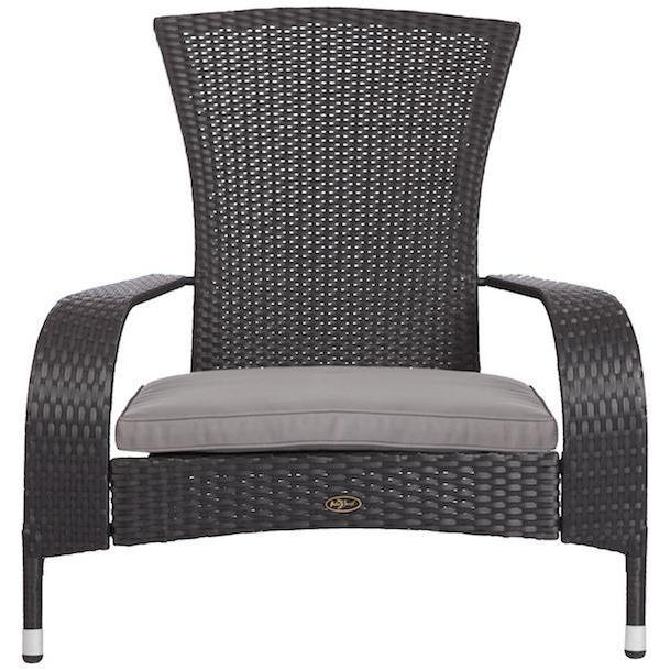 Black Coconino Wicker Chair - Patio Furniture - Patio Sense - ElectricFireplacesPlus.com