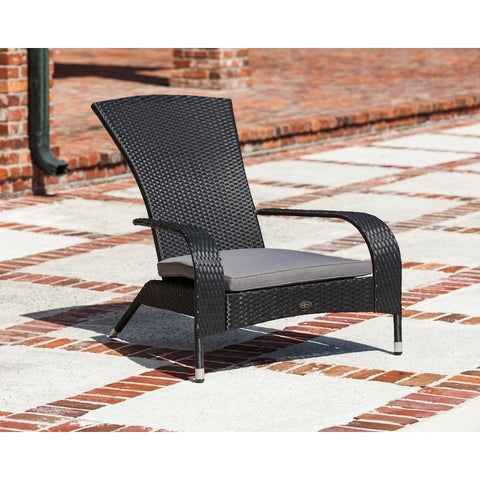 Image of Black Coconino Wicker Chair - Patio Furniture - Patio Sense - ElectricFireplacesPlus.com