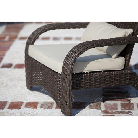 Image of Deluxe Coconino Wicker Chair - Patio Furniture - Patio Sense - ElectricFireplacesPlus.com