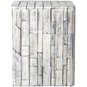 Elyse Square Garden Stool - Patio Furniture - Patio Sense - ElectricFireplacesPlus.com