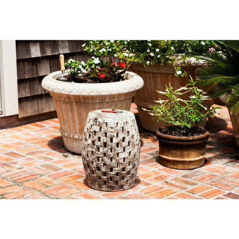 Image of Maya Oval Garden Stool - Patio Furniture - Patio Sense - ElectricFireplacesPlus.com