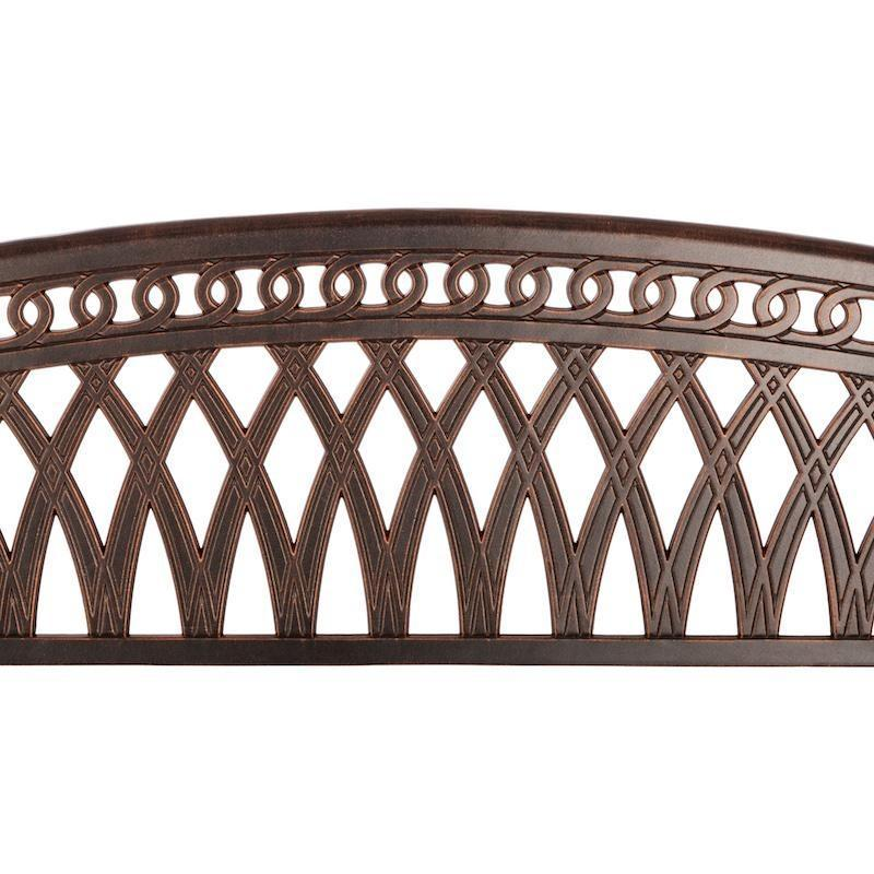 Simone Cast Aluminum Bench - Patio Furniture - Patio Sense - ElectricFireplacesPlus.com