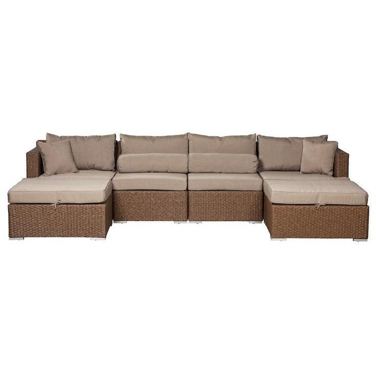Teagarden Sectional Set - Patio Furniture - Patio Sense - ElectricFireplacesPlus.com