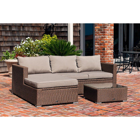 Tristano Sofa Set - Patio Furniture - Patio Sense - ElectricFireplacesPlus.com