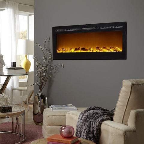 "Image of Touchstone Sideline 50"" Flush Mount Electric Fireplace"