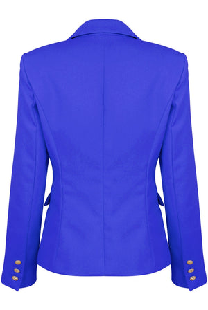 Royal Blue Golden Button Blazer