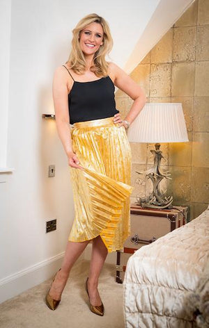 Ladies Gold Love Heart Skirt