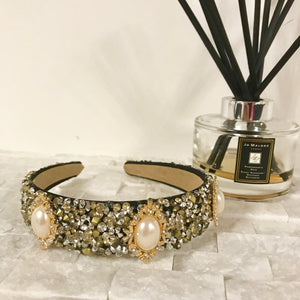 Black and Gold Princess Hairband
