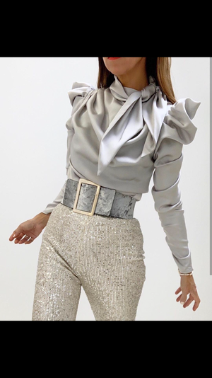 Champagne Sequin Trousers