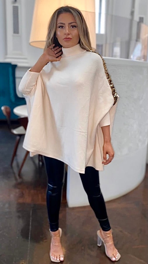 Lexie Sequin Cape Top
