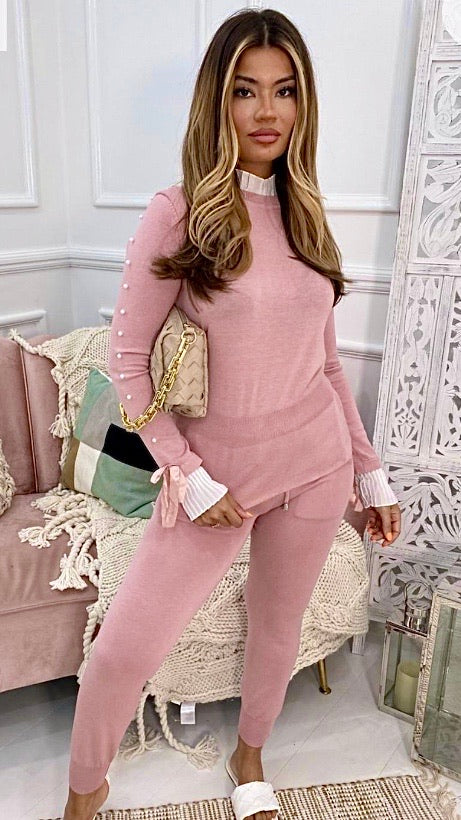 Pink Pearl Lounge Suit