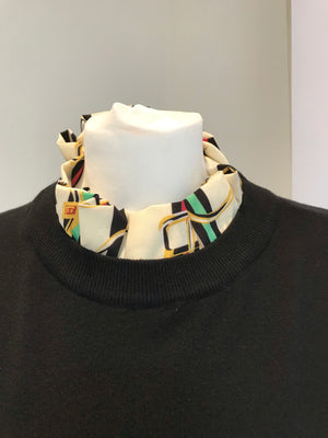 Black Ladies Chain and Belt Cuff and Collar Jumper