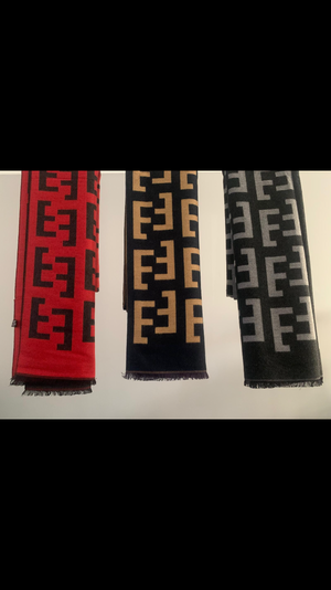 Red & Black Designer inspired scarf