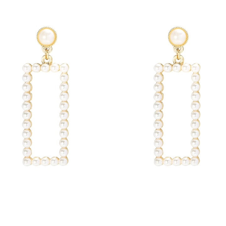 Pearl & Gold Drop Earrings