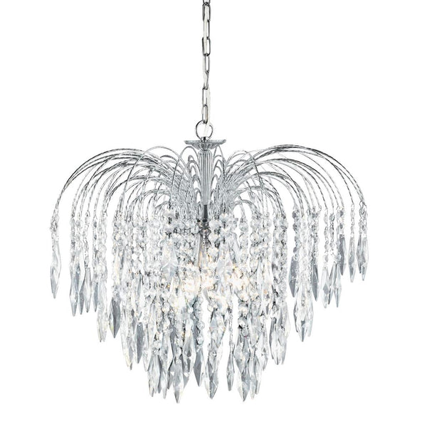 SEARCHLIGHT 4175-5 Chandelier Light Fitting WATERFALL