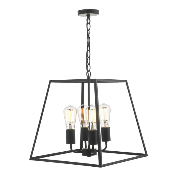 Dar Academy 4 Light Lantern Black