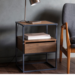 Balham Smoked Side Table - Cusack Lighting