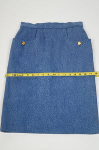 Chanel Denim Pencil Skirt