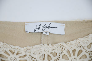 Jeff Galluno Cream Lace Pants