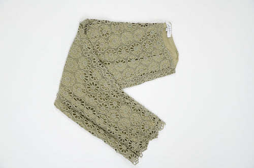 Jeff Galluno Olive Lace Pants