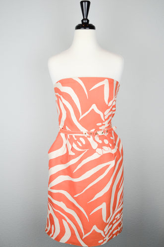 Kate Spade Orange Animal Print Dress
