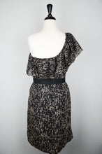 Lela Rose Black & Beige Silk Dress