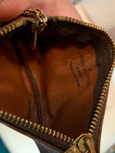 Louis Vuitton Brown Leather Logo Coin Pouch