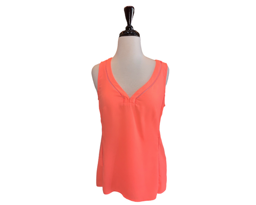 Nanette LePore Orange V-neck Top