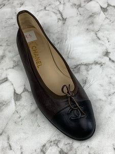 Chanel Brown Ballet Flats Sz. 9.5