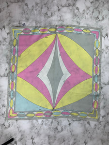 Pucci Yellow Print Silk Pocket Square