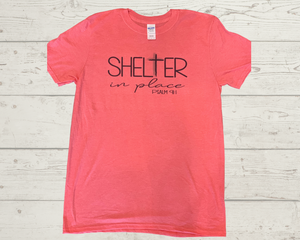 "Labels Graphic Tee- ""Shelter In Place"""