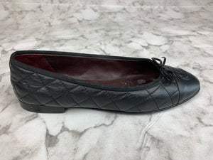 Chanel Black Quilted Ballet Flats Sz. 9.5