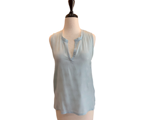 L'agence Powder Blue Silk Top