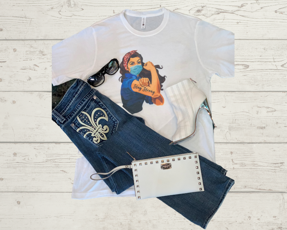 Labels Graphic Tee- Rosie The Riveter