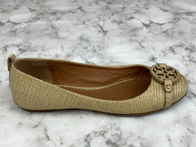 Tory Burch Camel Lizard Leather Flats Sz 8