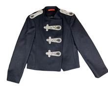 Alice & Olivia Black Wool Military Style Jacket