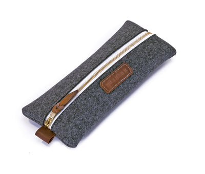 Felt & Leather Pencil Pouch