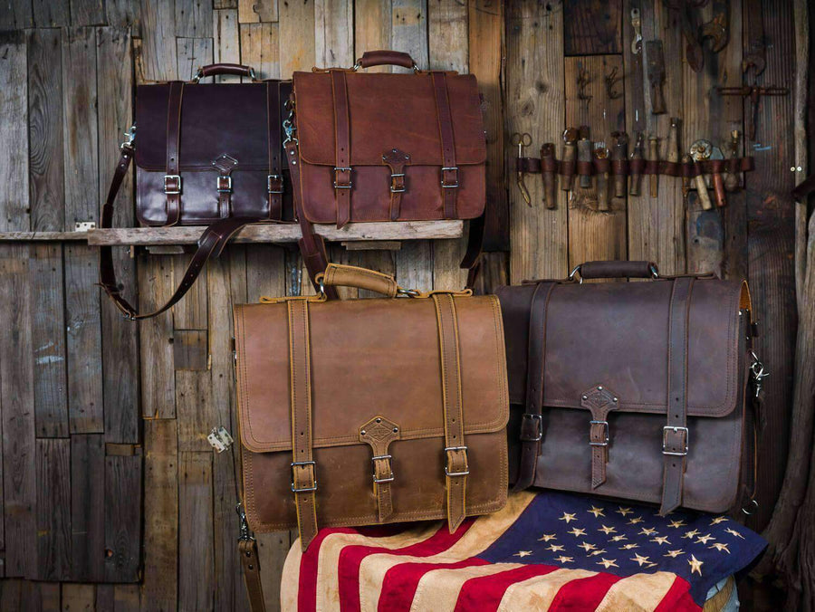 premium leather messenger bags