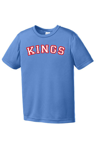 Kings Sport Tek Columbia Blue Performance Tee (Youth/Adult)
