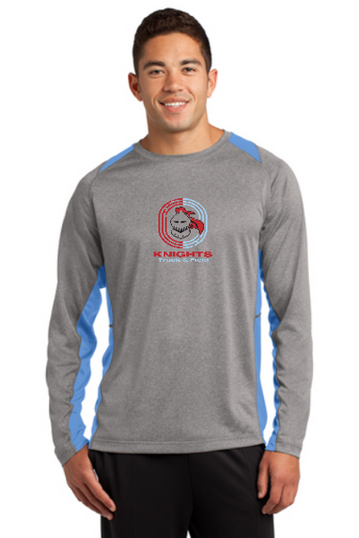 T&F Sport-Tek® Long Sleeve Heather Colorblock Contender™ Tee
