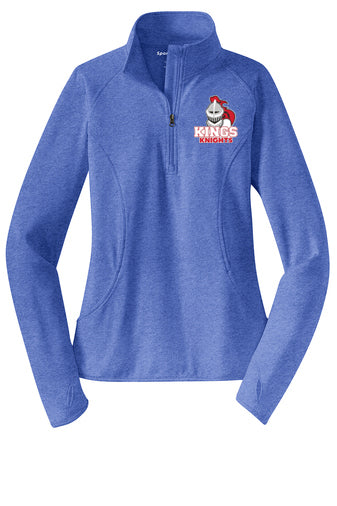 Kings Ladies Sport Tek 1/4 Zip Performance Fleece (Blue, Black, Red)