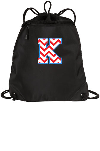 South Lebanon Elementary Kings Knights Cinch Sack with Chevron Logo