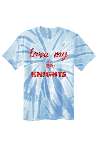 Kings Glitter Love My Knights Tie Dye Tee