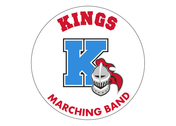 Kings Marching Band Car Window Sticker