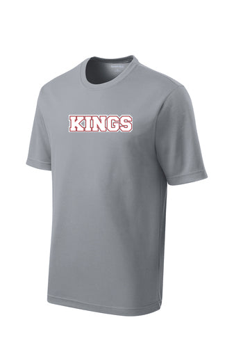 Kings Sport Tek Performance Tee with Logo (Gray or Black)