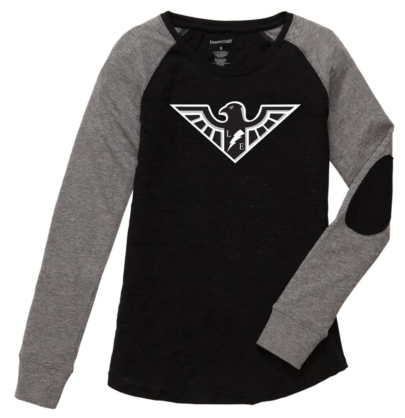 Wyandot Lakota East Logo Girls/Ladies Lakota Preppy Patch Tee