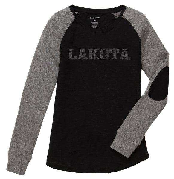 Wyandot Tone on Tone Glitter Girls/Ladies Lakota Preppy Patch Tee
