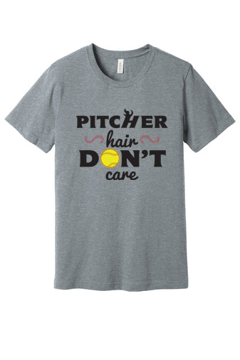 Pitcher Hair Don't Care Short Sleeved Tee
