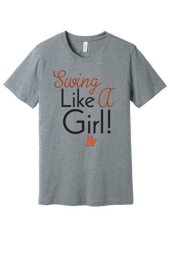 Swing Like a Girl Short Sleeved Tee