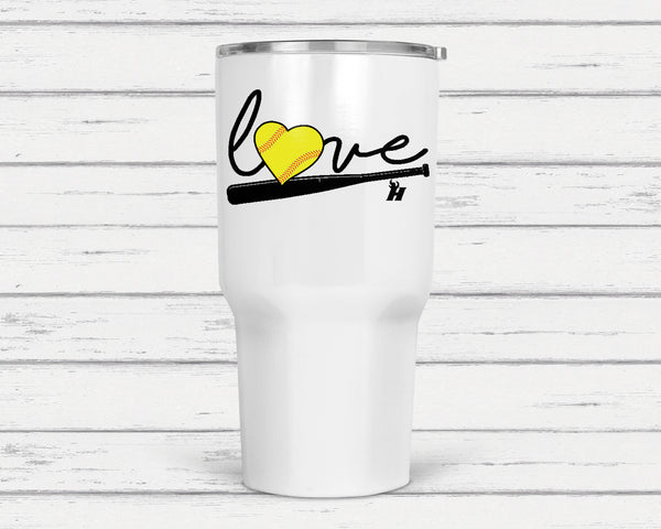 Love Softball Tumbler